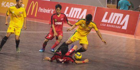 Ditekuk POLSRI, Tim Futsal UMP Gagal Juara Liga Mahasiswa 2019