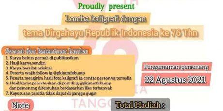 Rayakan HUT ke-76 RI, PK IMM FEB UMP Gelar Lomba Kaligrafi Secara Online